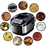 Russell Hobbs Multicooker 5,0l (digitales Display + Timer), 11 Kochprogramme (Schongarer, Dampfgarer, Slow Cooker, Reiskocher, Joghurtbereiter etc.), Anti-Kondensations-Deckel, Cook@Home 21850-56
