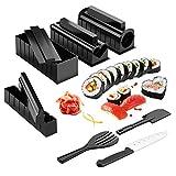 Sushi Maker Kit, AGPTEK 10 tlg Komplett Sushi Making Kit, 5 Formen DIY Selber Sushi Machen Set mit hochwertigem Sushi Messer, Perfekt für Sushi DIY auch als Geschenk -'MEHRWEG'