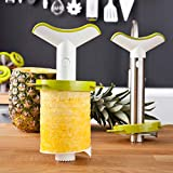 Tomorrow's Kitchen (bislang Vacu Vin) - 48702606 Ananasschneider Deluxe 3er Set,weiß