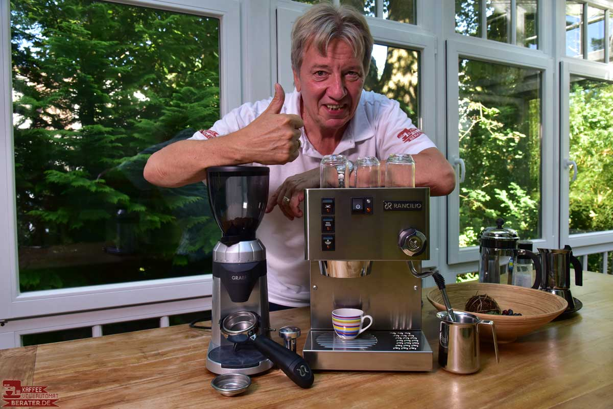 Norbert testet Espressomaschine